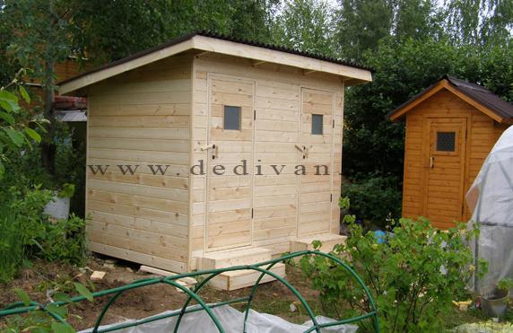 деревянный хозблок с туалетом