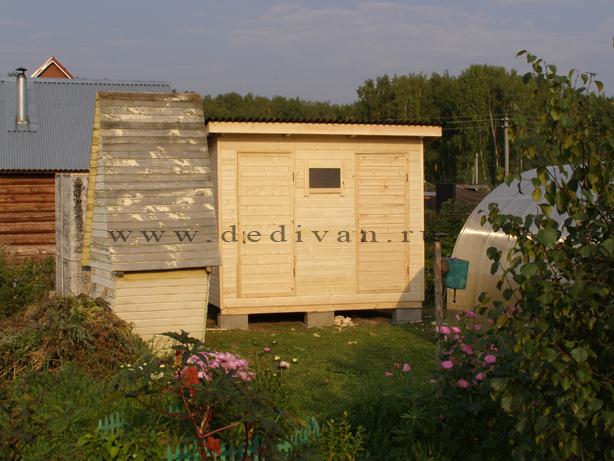 деревянная бытовка с душем