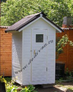 туалет-квадрат из пвх вагонки
